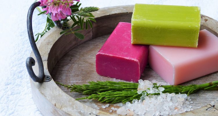 Natural solid toiletries bars, soap bar, solid shampoo and solid conditioner