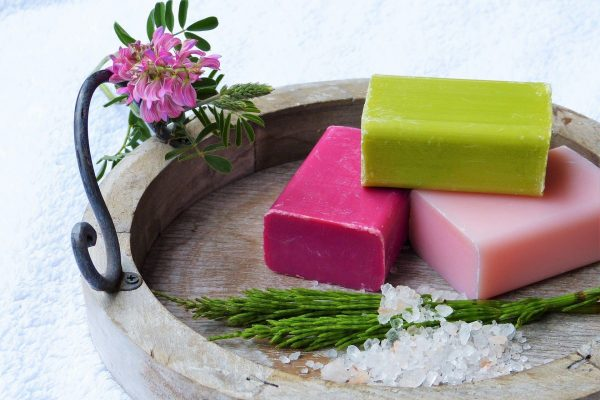 Natural solid toiletries like, soap bars, solid shampoo and solid conditioner are great eco-friendly alternatives.