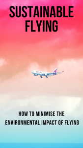 Your guide to reducing the impact of your flights on the environment. How to make necessary flights as sustainable as possible. #flights #sustainable #airtravel #travel #traveltips #sustainableflights