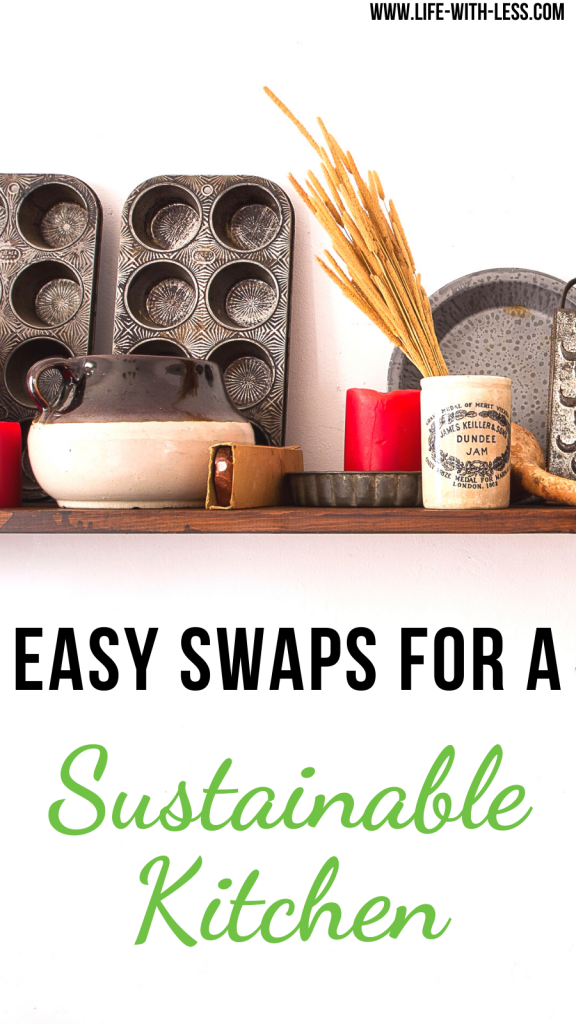 Read about easy ways to create a sustainable kitchen. Including useful tips and product swaps for a more sustainable kitchen. #kitchen #sustainable #sustainability #cooking #baking #sustainablekitchen #sustainablelifestyle #products #greenproducts #zerowastekitchen #swaps #ecofriendly #ecoproducts #reducewaste #zerowaste #lifewithless