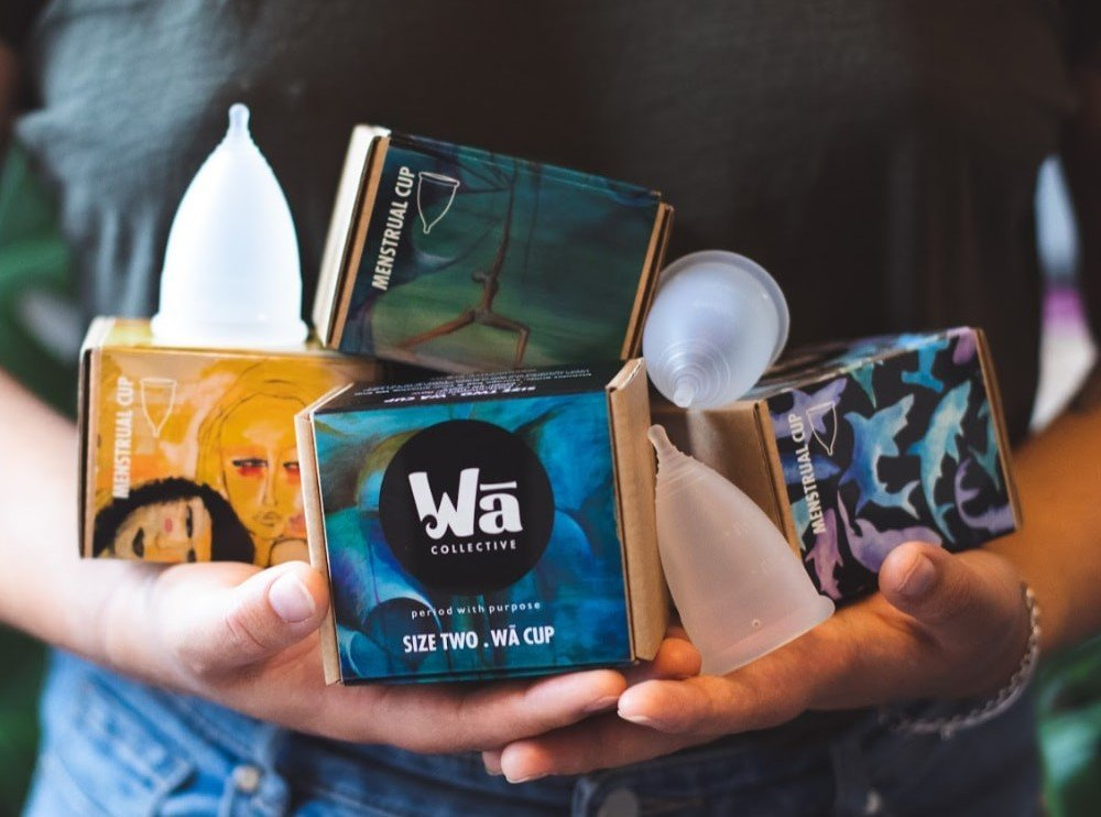 menstrual cups selection from Wa Collective