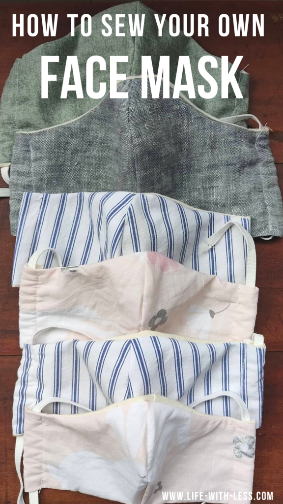 Simple step by step instructions to sew your own face mask. An easy repurposed sewing project for beginners. #facemask #mask #makeyourown #sewing #sew #sewingproject #diy #covid19 #covid #stopthespread #repurpose #staysafe #sustainablealternative #sustainable