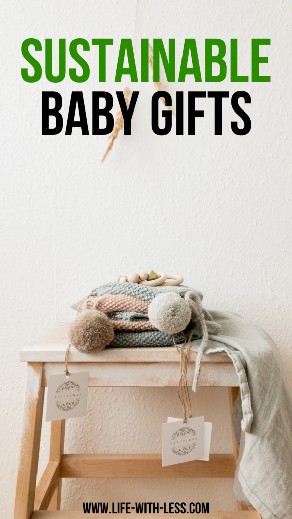 Ideas for sustainable baby gifts. Eco-friendly gifts for baby showers or to celebrate special occasions. Includes ethically-made and plastic-free gift ideas for babies. #baby #gifts #sustainable #sutainablegift #sustainablebabygifts #newborn #babyshower #babygifts #babyproducts #sustainablebaby #eco-friendlyproducts #ecobaby #zerowaste #zerowastegifts